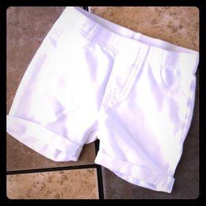 Jegging Shorts Cuffed True White